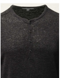 John Varvatos black linen sweater with buttons price