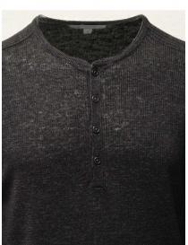 John Varvatos maglia in lino nera con bottoni prezzo