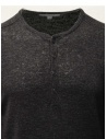 John Varvatos black linen sweater with buttons Y2784W1 AZT9 BLK 001 price