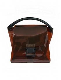 Borse online: Zucca borsa in PVC marrone trasparente