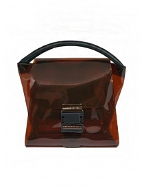 Zucca borsa in PVC marrone trasparente online