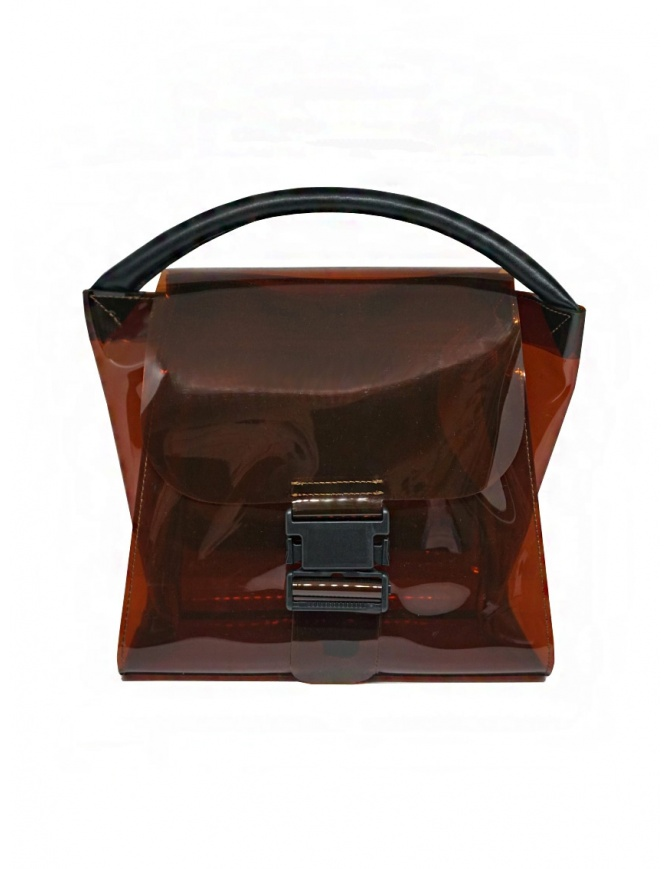 Zucca borsa in PVC marrone trasparente ZU07AG174-05 BROWN borse online shopping