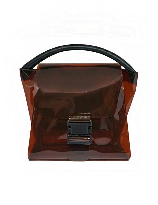 Zucca mini bag in transparent brown PVC ZU07AG174-05 BROWN bags online shopping