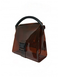 Zucca borsa in PVC marrone trasparente
