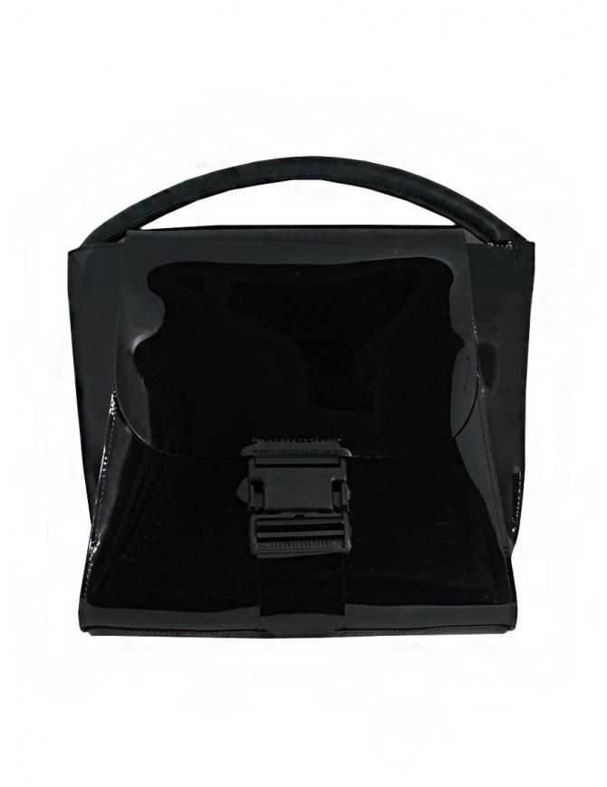 Zucca borsa nera lucida con manico singolo ZU07AG174-26 BLACK borse online shopping