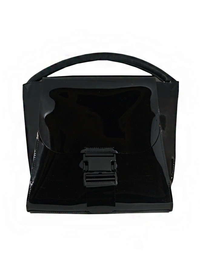Zucca shiny black bag with single handle ZU07AG174-26 BLACK bags online shopping