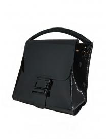 Zucca borsa nera lucida con manico singolo prezzo