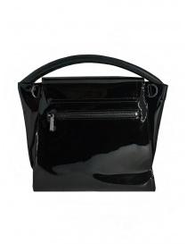 Zucca borsa nera lucida con manico singolo borse acquista online
