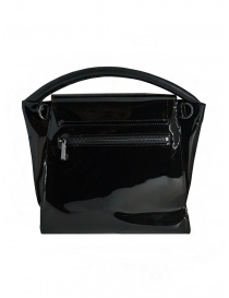 Zucca shiny black bag with single handle bags buy online