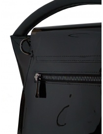 Zucca shiny black bag with single handle