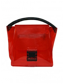 Bags online: Zucca red transparent PVC bag with shoulder strap