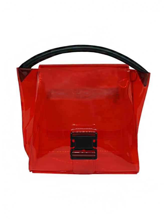Zucca borsa rossa trasparente in PVC con tracolla ZU07AG174-21 RED borse online shopping