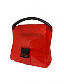 Zucca borsa rossa trasparente in PVC con tracolla prezzo