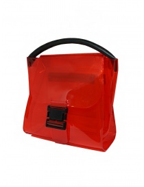 Zucca red transparent PVC bag with shoulder strap price