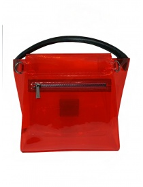 Zucca red transparent PVC bag with shoulder strap