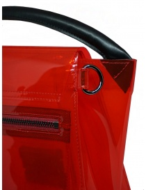 Zucca borsa rossa trasparente in PVC con tracolla borse acquista online