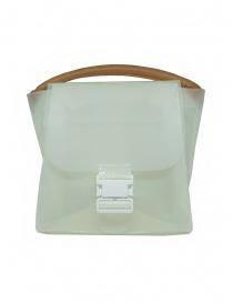 Borse online: Zucca borsa in PVC bianco trasparente con tracolla
