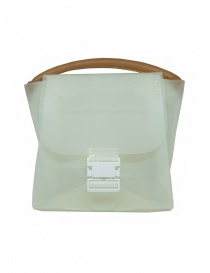 Bags online: Zucca transparent white PVC bag with shoulder strap