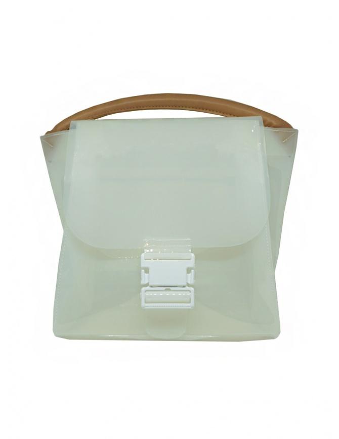Zucca borsa in PVC bianco trasparente con tracolla ZU07AG127-01 WHITE borse online shopping