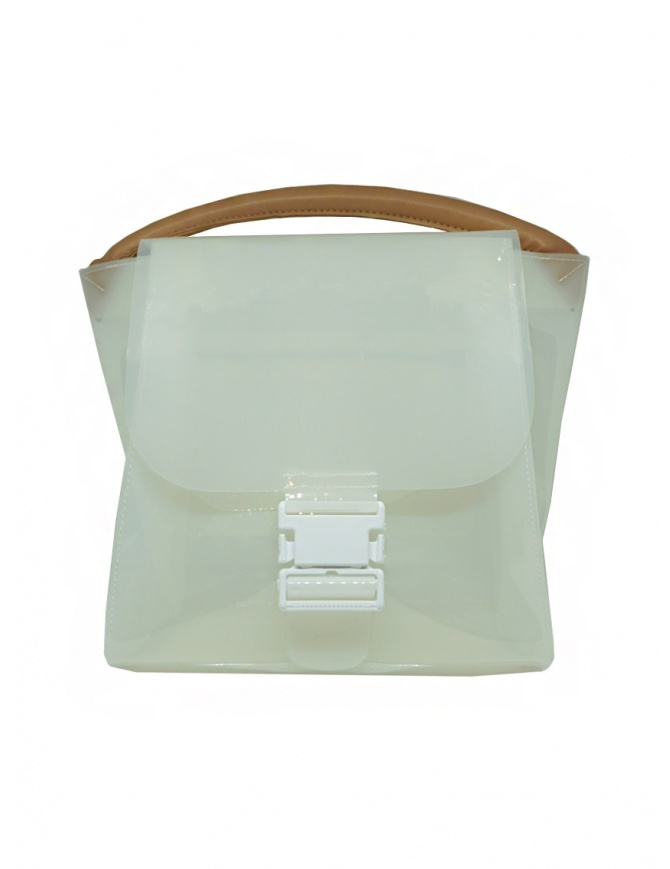 Zucca transparent white PVC bag with shoulder strap ZU07AG127-01 WHITE bags online shopping