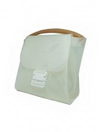 Zucca borsa in PVC bianco trasparente con tracolla prezzo