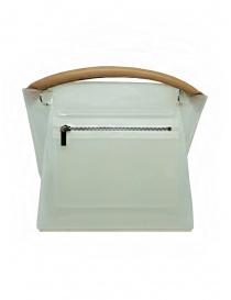 Zucca borsa in PVC bianco trasparente con tracolla