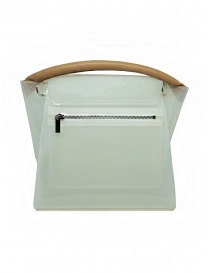 Zucca transparent white PVC bag with shoulder strap