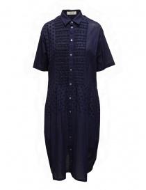 Abiti donna online: Zucca abito blu con dettagli ricamati