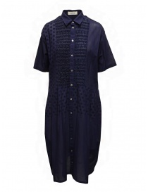 Zucca blue dress with embroidered details online