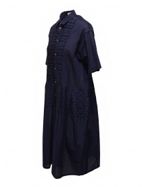 Zucca blue dress with embroidered details