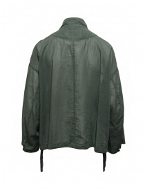 Zucca khaki green veiled cotton jacket with zip price