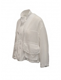 Zucca white veiled cotton jacket with zip