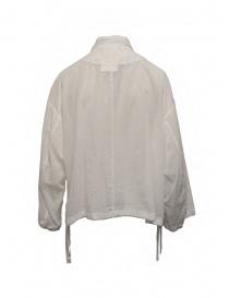 Zucca white veiled cotton jacket with zip price
