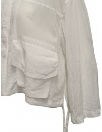 Zucca white veiled cotton jacket with zip womens jackets buy online