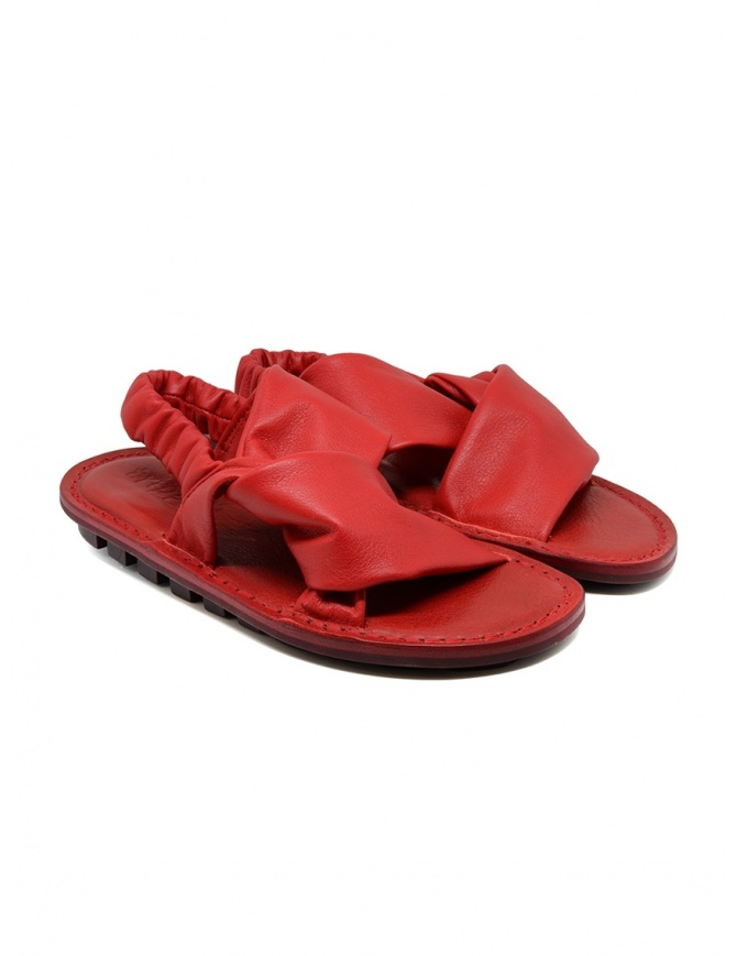 Trippen Embrace F red crossed sandals EMBRACE F VST WAW RED womens shoes online shopping