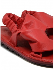 Trippen Embrace F red crossed sandals womens shoes price