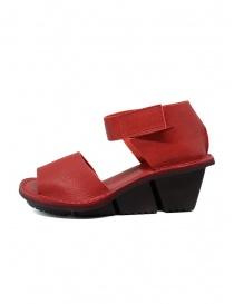 Trippen Scale F sandali rossi in pelle