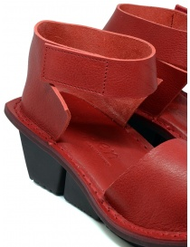 Trippen Scale F red leather sandals womens shoes price
