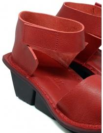 Trippen Scale F sandali rossi in pelle calzature donna prezzo