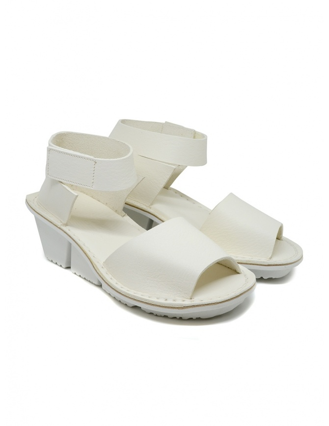 Trippen Scale F white leather sandals SCALE F WAW WHITE womens shoes online shopping