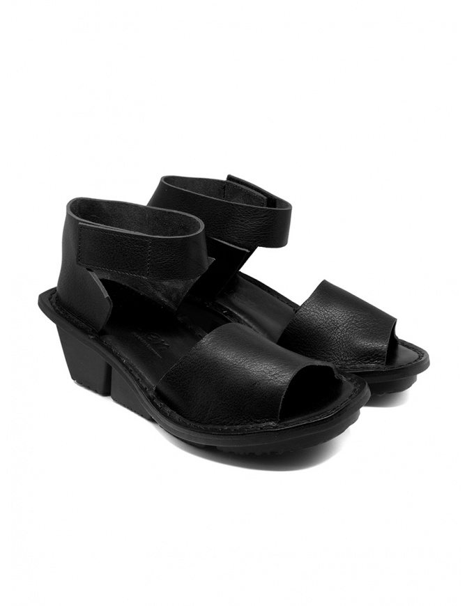 Trippen Scale F black leather sandals SCALE F WAW BLACK womens shoes online shopping