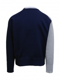 Kolor gray double collar sweater