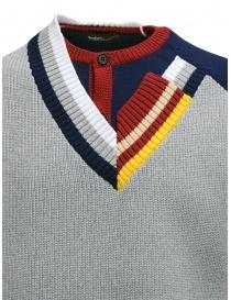 Kolor maglia a doppio collo grigia prezzo