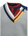 Kolor maglia a doppio collo grigia 20SCM-N02301 GRAY prezzo