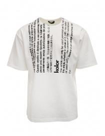 Kolor t-shirt bianca con scritte verticali nere 20SCM-T07204 WHITE