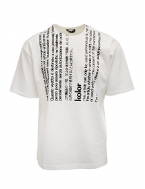 Mens t shirts online: Kolor white t-shirt with black vertical writings
