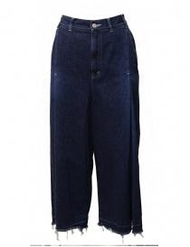 Zucca jeans a palazzo con frange sul fondo ZU07FF201-13 NAVY