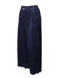 Zucca jeans a palazzo con frange sul fondo