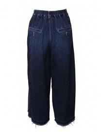 Zucca jeans a palazzo con frange sul fondo prezzo