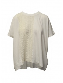 Zucca ivory white blouse with embroidered insert online